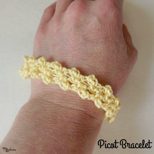 Picot Bracelet ~ FREE Crochet Pattern