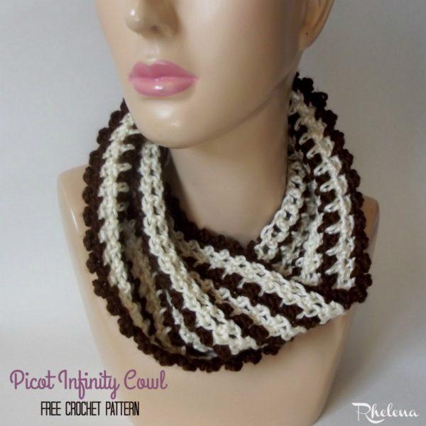 Picot Infinity Cowl ~ FREE Crochet Pattern