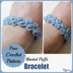 Slanted Puffs Bracelet ~ FREE Crochet Pattern