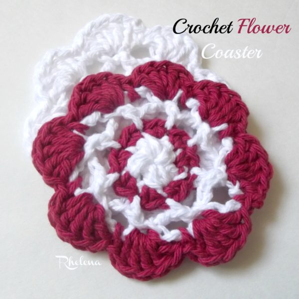 Crochet Flower Coaster ~ FREE Crochet Pattern