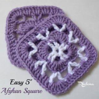 "Easy 5"" Afghan Square ~ FREE Crochet Pattern"