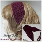 Slanted Puffs Summer Headband ~ FREE Crochet Pattern