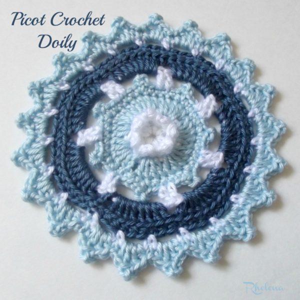 Picot Crochet Doily ~ FREE Crochet Pattern