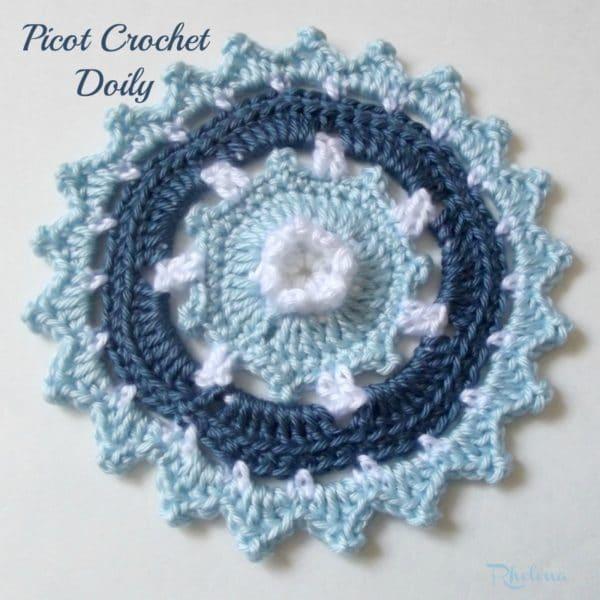 Free Crochet Doily Patterns Instructions : Picot Crochet Doily - CrochetNCrafts
