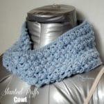 Slanted Puffs Cowl ~ FREE Crochet Pattern