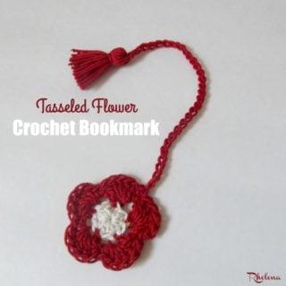 Tasseled Flower Crochet Bookmark