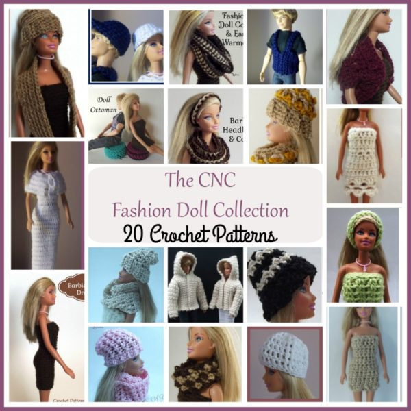 The CNC Fashion Doll Pattern Collection ~ 20 Crochet Patterns
