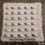 Cross-Over Long DC Dishcloth ~ FREE Crochet Pattern