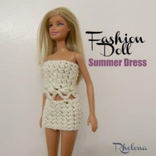 Fashion Doll Summer Dress ~ FREE Crochet Pattern