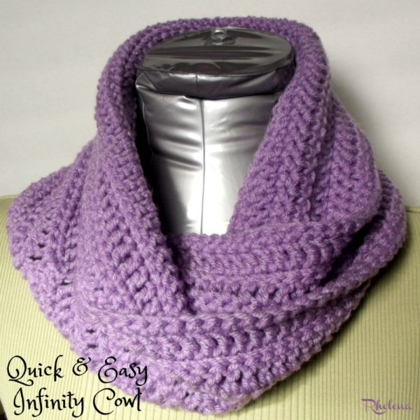 Free Crochet Patterns Cowls : Quick and Easy Infinity Cowl - CrochetNCrafts
