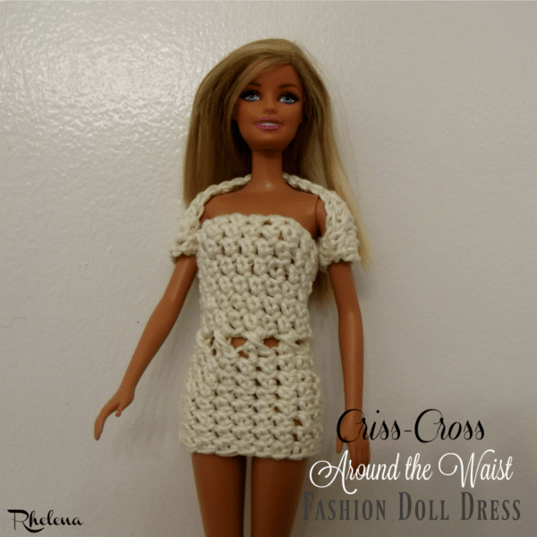 Criss-Cross Around the Waist Fashion Doll Dress ~ FREE Crochet Pattern