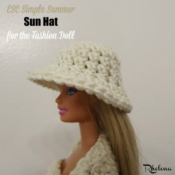 ESC Simple Summer Sun Hat for the Fashion Doll ~ FREE Crochet Pattern