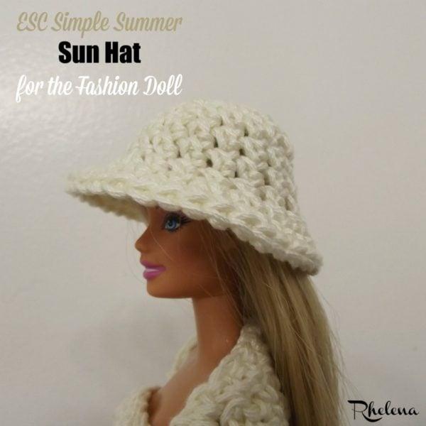 ESC Simple Summer Sun Hat for the Fashion Doll ~ FREE Crochet Pattern