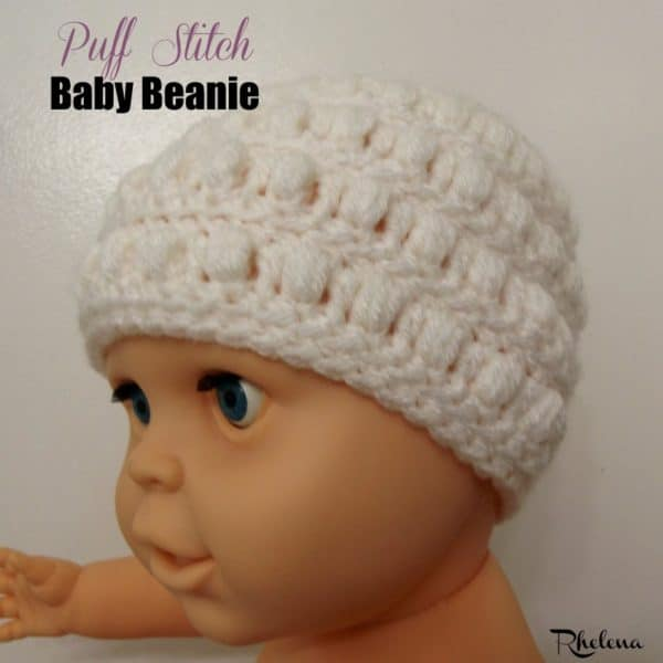 Puff Stitch Baby Beanie Crochetn Crafts