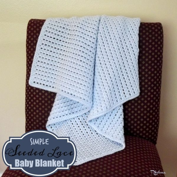 Simple Seeded Lace Baby Blanket Crochetncrafts