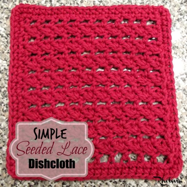 Simple Seeded Lace Dishcloth ~ FREE Crochet Pattern
