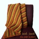 Swish-Swash Fall Baby Blanket ~ FREE Crochet Pattern
