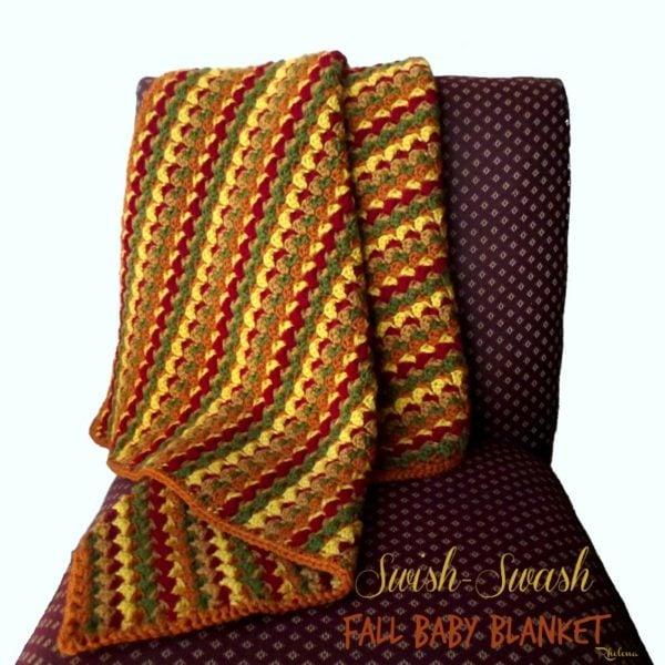 Swish-Swash Fall Baby Blanket ~ FREE Crochet Pattern