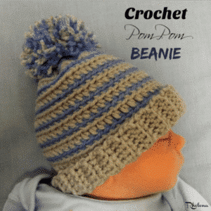 Crochet Pom Pom Beanie by CrochetN'Crafts
