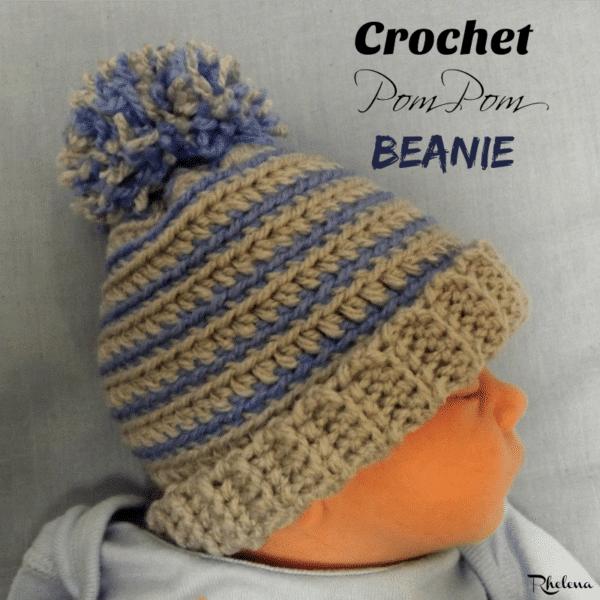 Crochet Pom Pom Beanie Crochetncrafts
