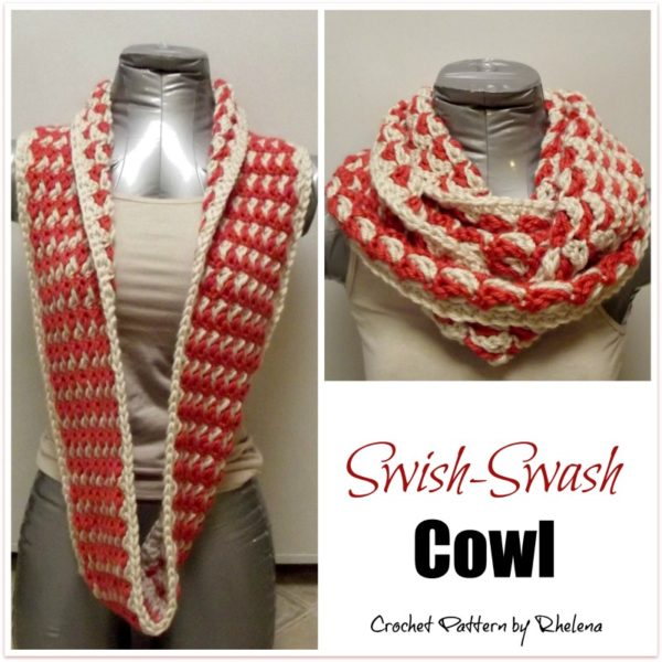 Swish-Swash Cowl ~ FREE Crochet Pattern