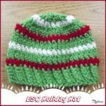 ESC Holiday Hat ~ FREE Crochet Pattern