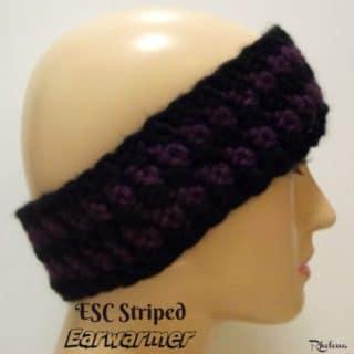 ESC Striped Earwarmer ~ FREE Crochet Pattern