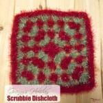 Granny's Holiday Scrubby Dishcloth ~ FREE Crochet Pattern