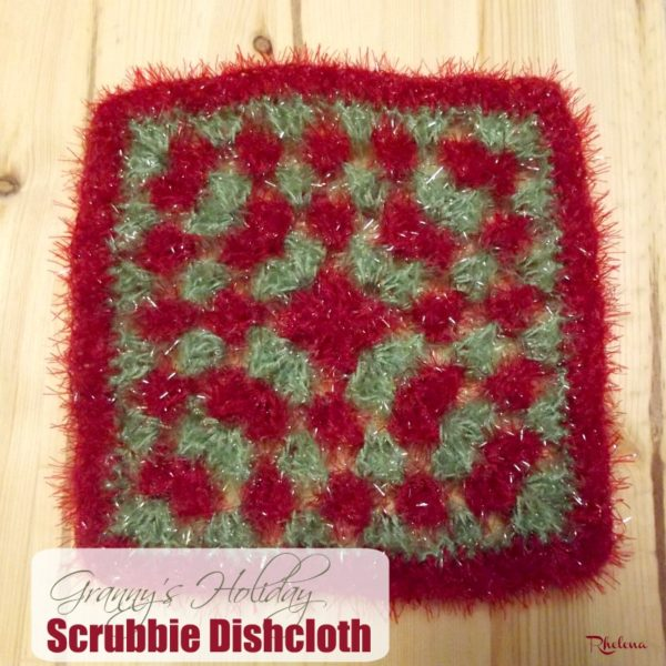 Granny's Holiday Scrubby Dishcloth ~ FREE Crochet Pattern