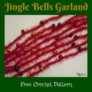 Jingle Bells Garland ~ FREE Crochet Pattern