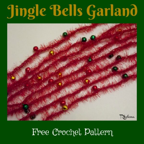 Jingle Bells Garland ~ FREE Crochet Pattern