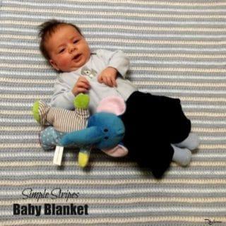 Simple Stripes Baby Blanket ~ FREE Crochet Pattern