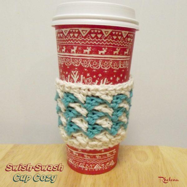 Swish-Swash Cup Cozy ~ FREE Crochet Pattern
