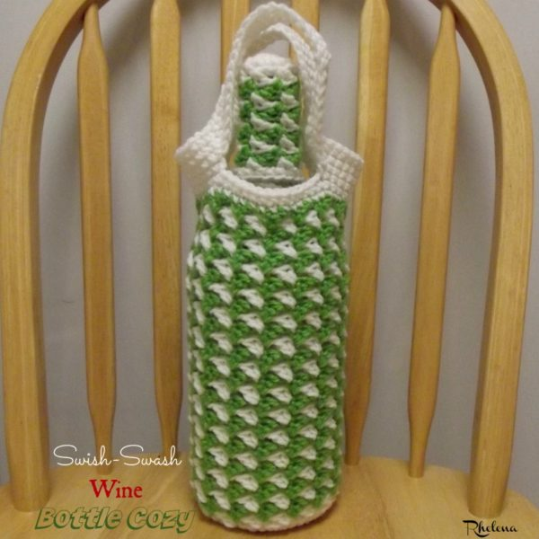 Swish-Swash Wine Bottle Cozy ~ FREE Crochet Pattern