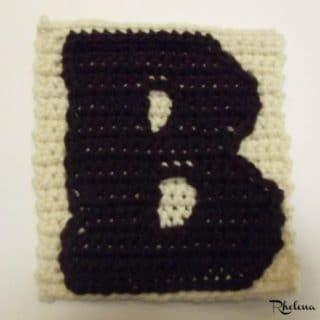 B - Uppercase Tapestry Crochet Block ~ FREE Crochet Pattern