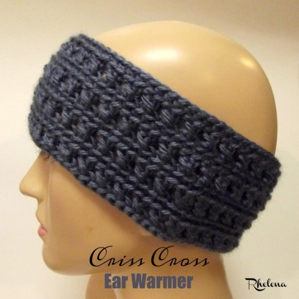 Free Crochet Ear Warmer Patterns For Adults : Criss Cross Ear Warmer - CrochetNCrafts
