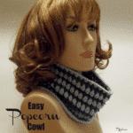 Easy Popcorn Cowl ~ FREE Crochet Pattern