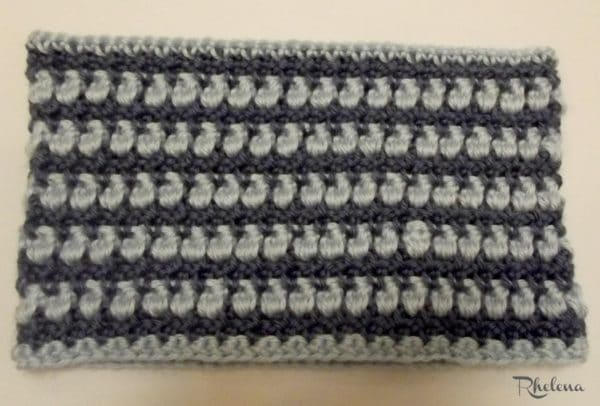 Easy Popcorn Cowl ~ Wrong Side