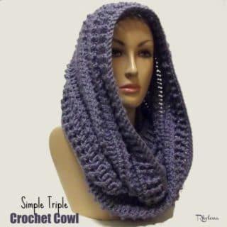 Simple Triple Crochet Cowl ~ FREE Crochet Pattern