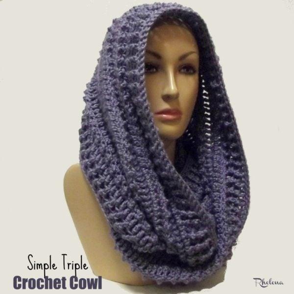 Simple Triple Crochet Cowl - CrochetNCrafts