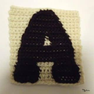 A – Uppercase Tapestry Crochet Block
