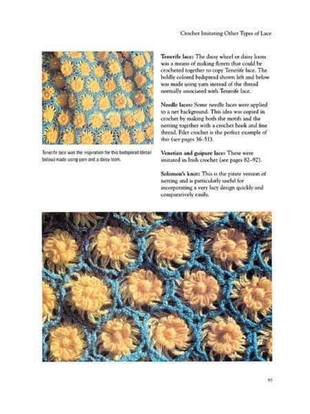 Tenerife Lace Bedspread ~ Page 95 ~ Image Provided by Dover Publications