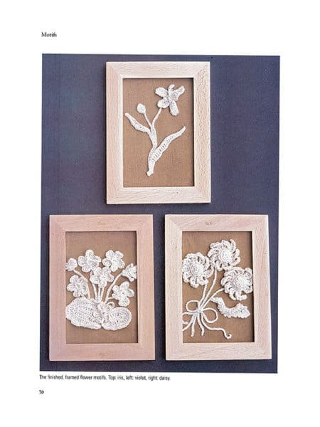 Framed Flower Motifs ~ Page 68 ~ Image Provided by Dover Publications
