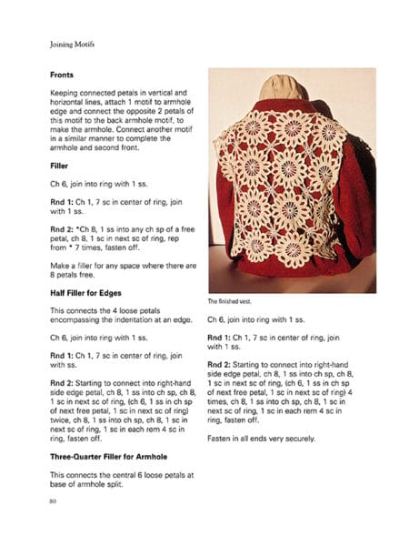Flower Motif Vest ~ Page 79 ~ Image Provided by Dover Publications