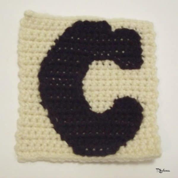 Free Crochet Pattern Letter C : C - Uppercase Tapestry Crochet Block - CrochetNCrafts