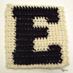 E - Uppercase Tapestry Crochet Block ~ FREE Crochet Pattern