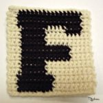 F - Uppercase Tapestry Crochet Block ~ FREE Crochet Pattern