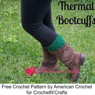 Thermal Bootcuffs ~ FREE Crochet Pattern by American Crochet