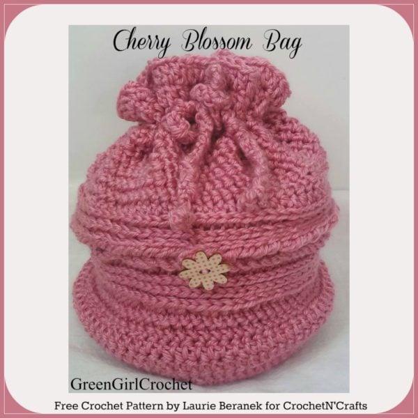Cherry Blossom Bag by Laurie Beranek of GreenGirlCrochet