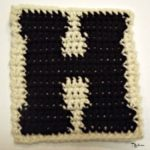 H – Uppercase Tapestry Crochet Block